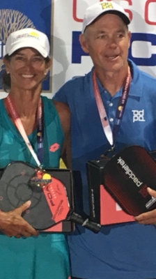 Scott Moore & Lisa Naumu, US Open Seniors Open Mixed Doubles 2018